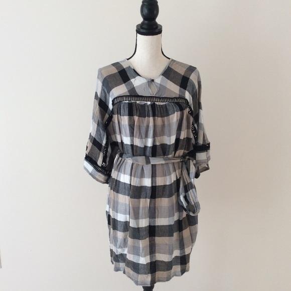 2f32b454468b Anthropologie Dresses & Skirts - Anthropologie Maeve Tie-Waist Kimono Tunic  Dress S